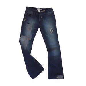 A/X Armani Exchange Patch Repair Distressed Jeans